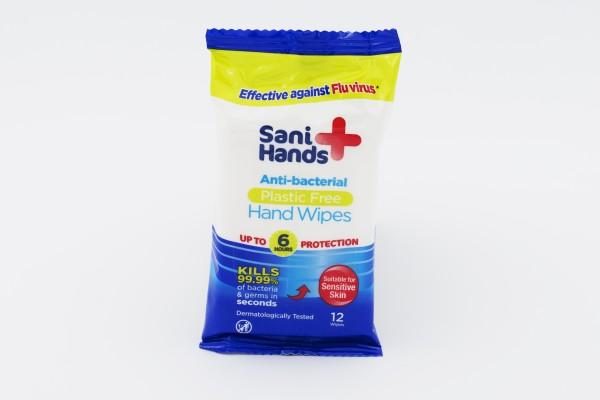 Sani Hands Antibakterielle Tücher 12 Stück